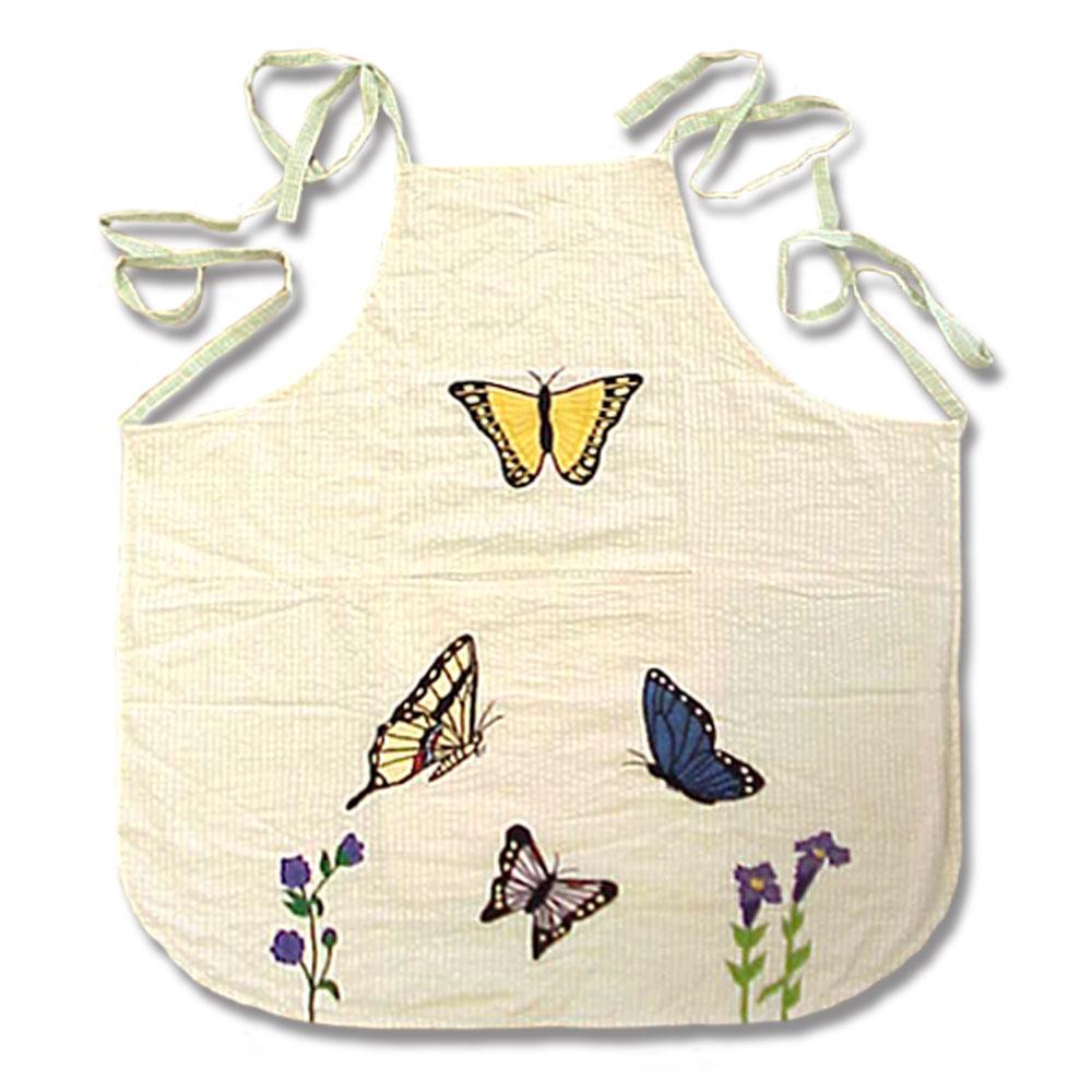 "Butterfly Kisses Apron 27""W x 29""L"