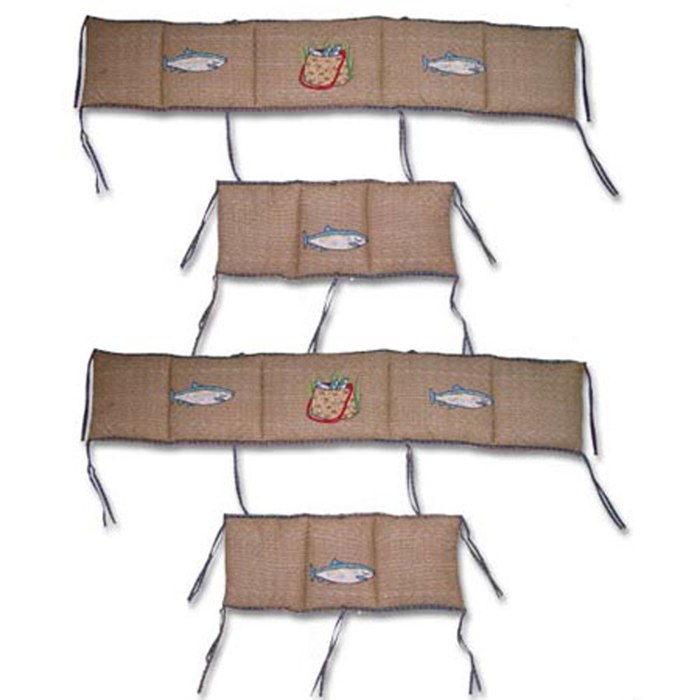 "Gone Fishing Bumper Pads 10""x52"" & 10""x25"" 2 EA"