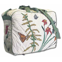 "Wildflower overnite tote bag 18""x 6""x 12"""