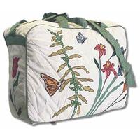 "Wildflower overnite tote bag 18""x 6""x 12"""