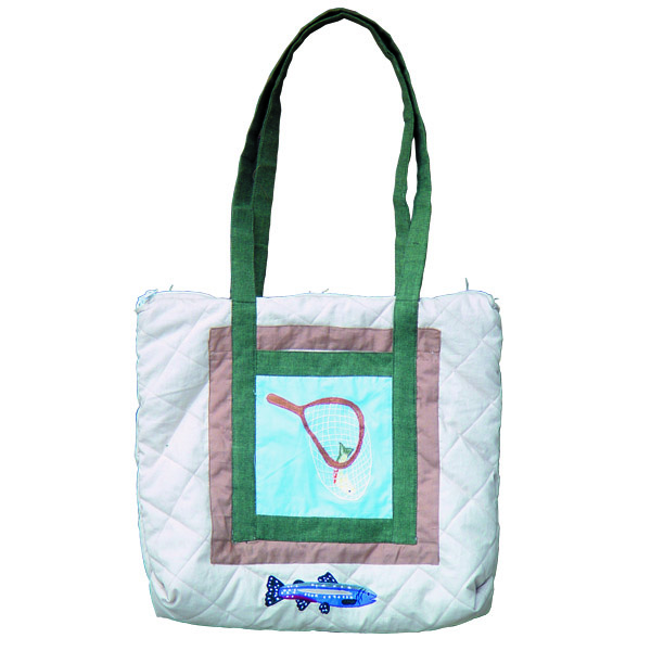 "Fly Fishing day Purse bag 17""x3""x15"""