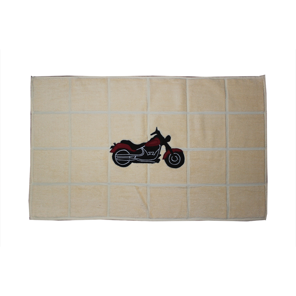 "Motor Cycle Bath Mat 34""W x 21""L"