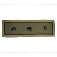 """Bear Country King Bed Runner or Scarf 30""""W x 100""""L"""
