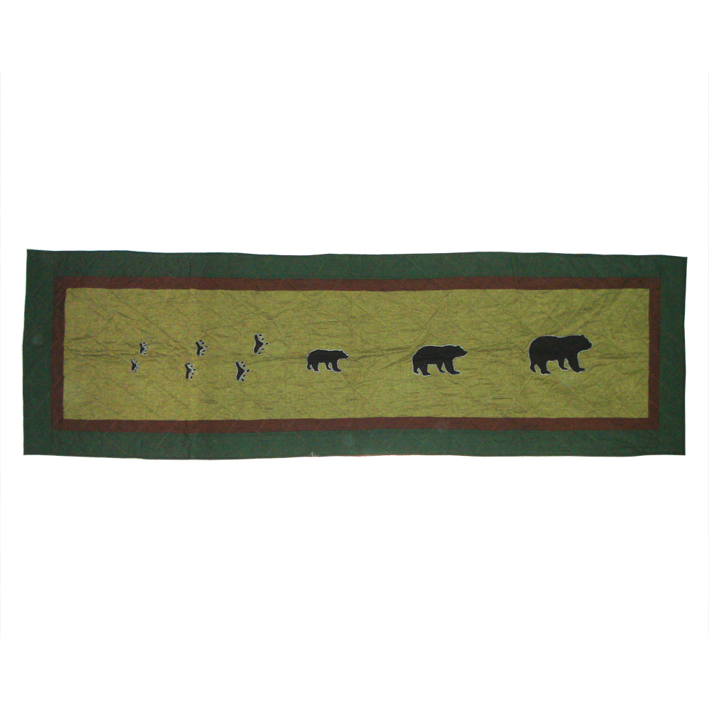 """Bear Trail King Bed Runner or Scarf 30""""W x 100""""L"""