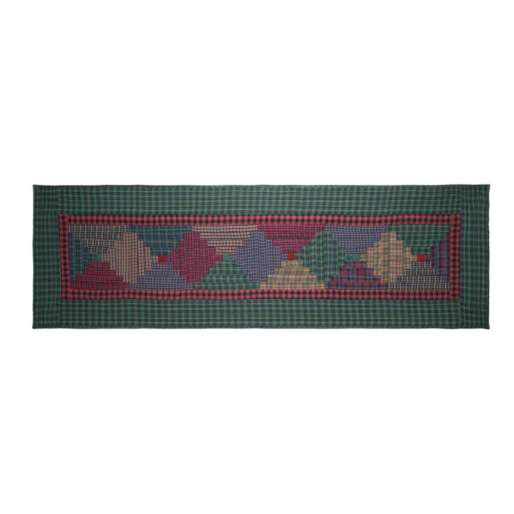 "Tartan Log Cabin King Bed Runner or Scarf 30""W x 100""L"