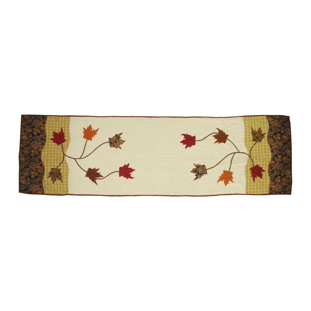 """Autumn Leaves Queen Bed Runner or Scarf 85""""W x 30""""L"""