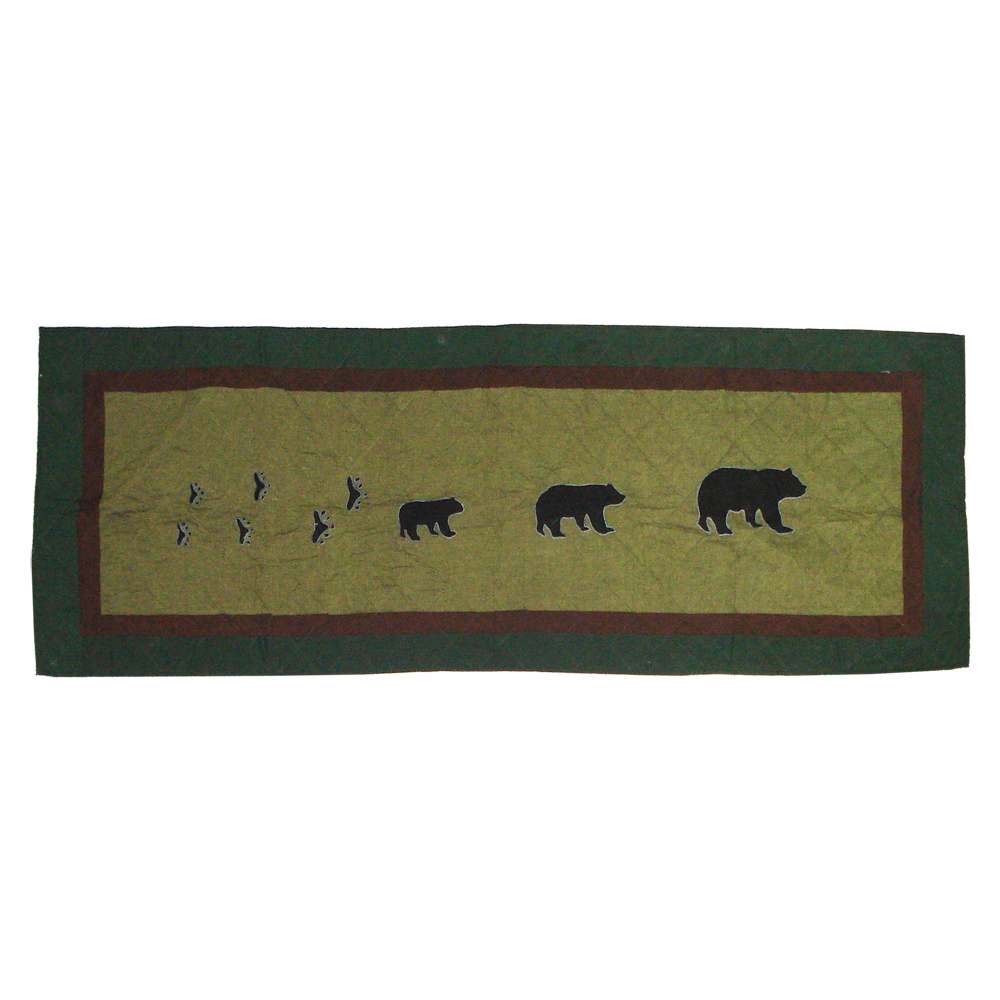 """Bear Trail Queen Bed Runner or Scarf 85""""W x 30""""L"""