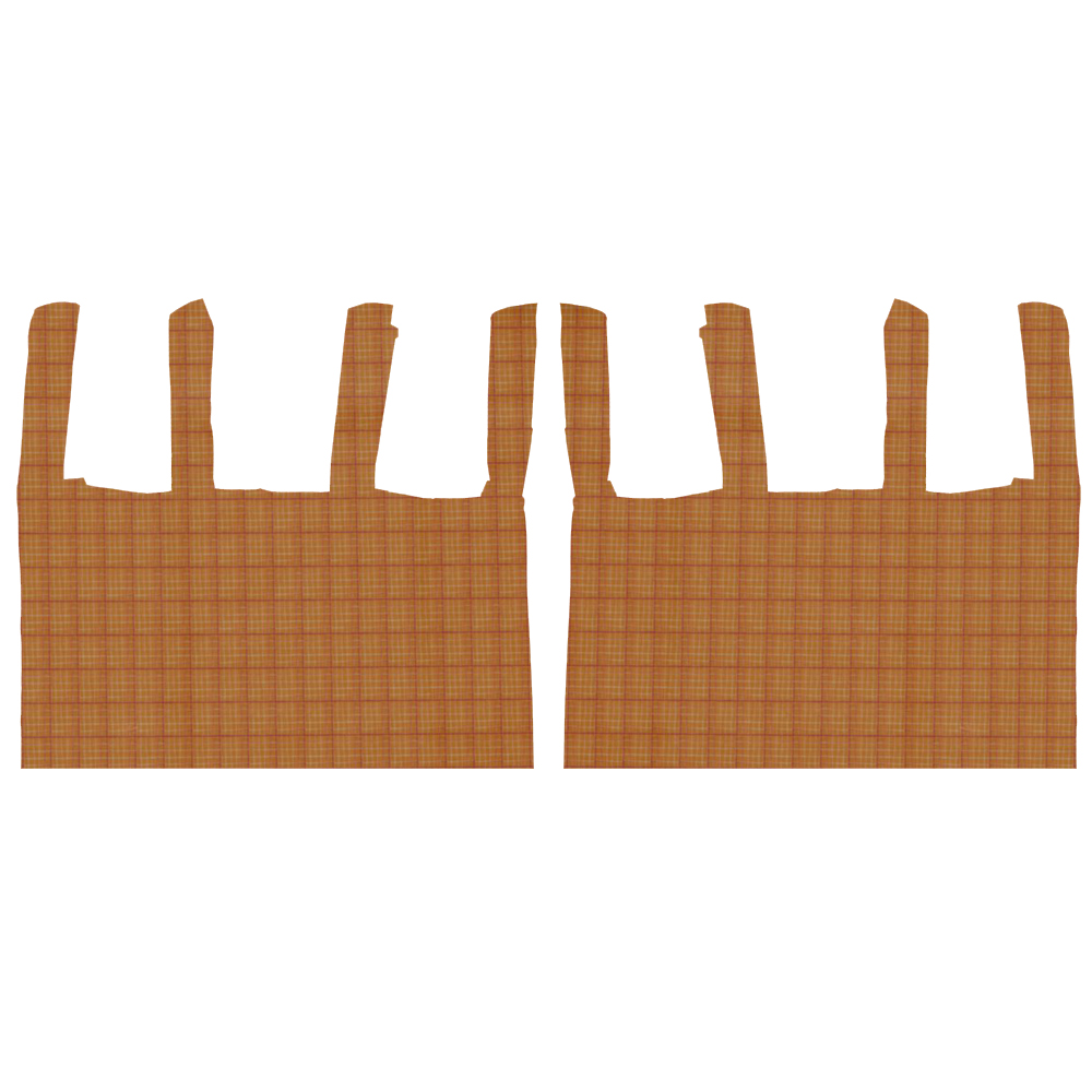 "Golden Rod Plaid bed curtain 40""w x 84""l"