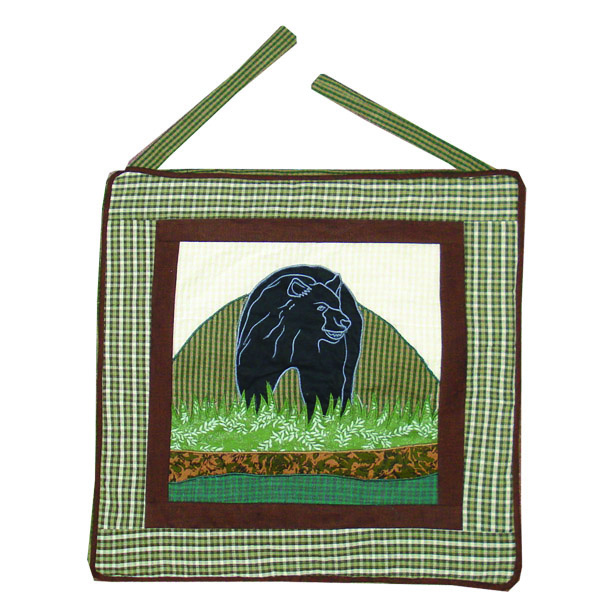 "Bear Country chair pad 16""w x 16""l"