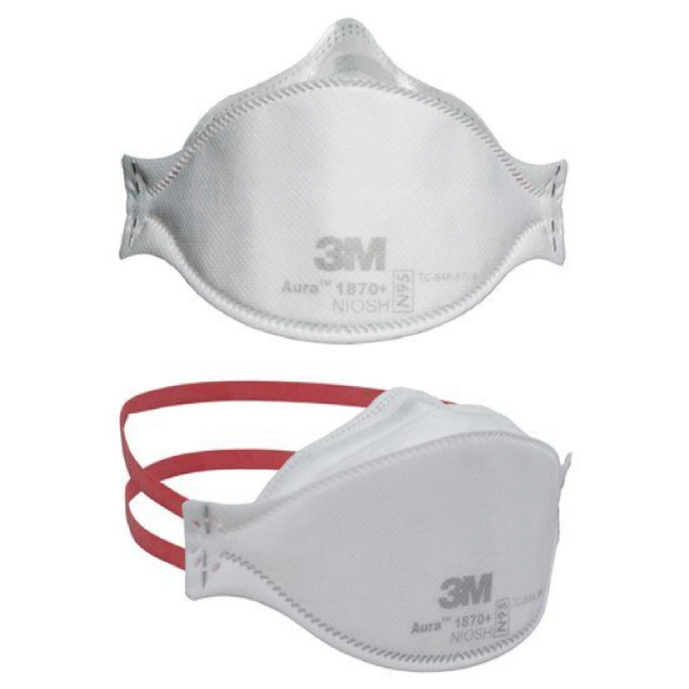 3M Respirator Mask,N95 Model# 1870+, Set of 5 Pieces