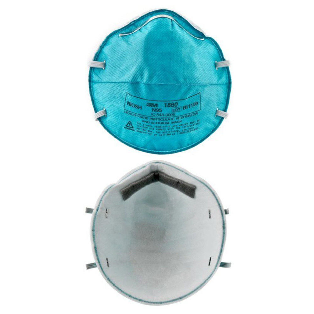 3M Respirator Mask, N95 Model# 1860, Case Pack of 120 Pieces