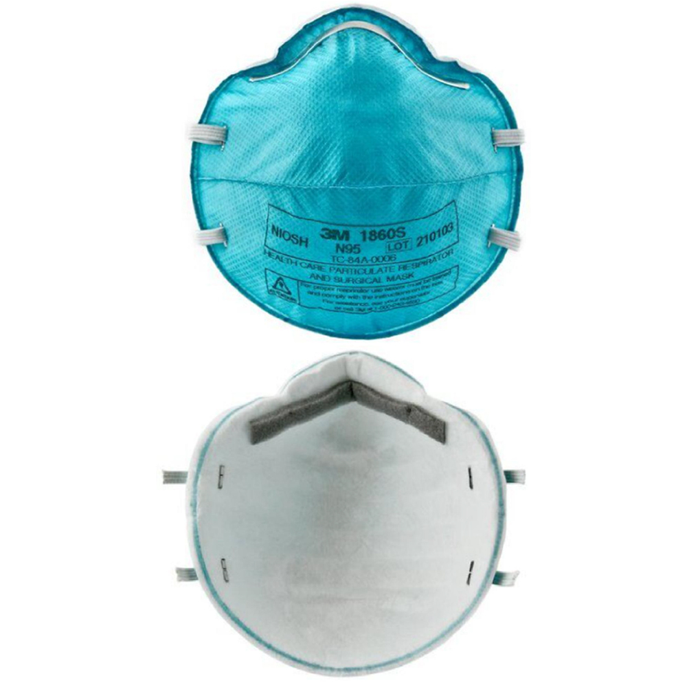 3M Respirator Mask, N95 Model# 1860S, Set of 5 Pieces.