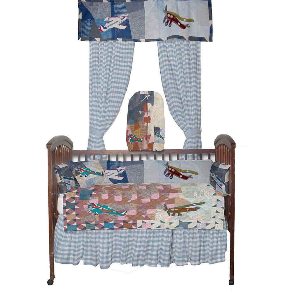 Airplane Sortie Crib Set 6 Pieces