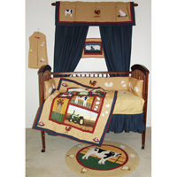 Barnyard Animals Crib Set 6 Pieces