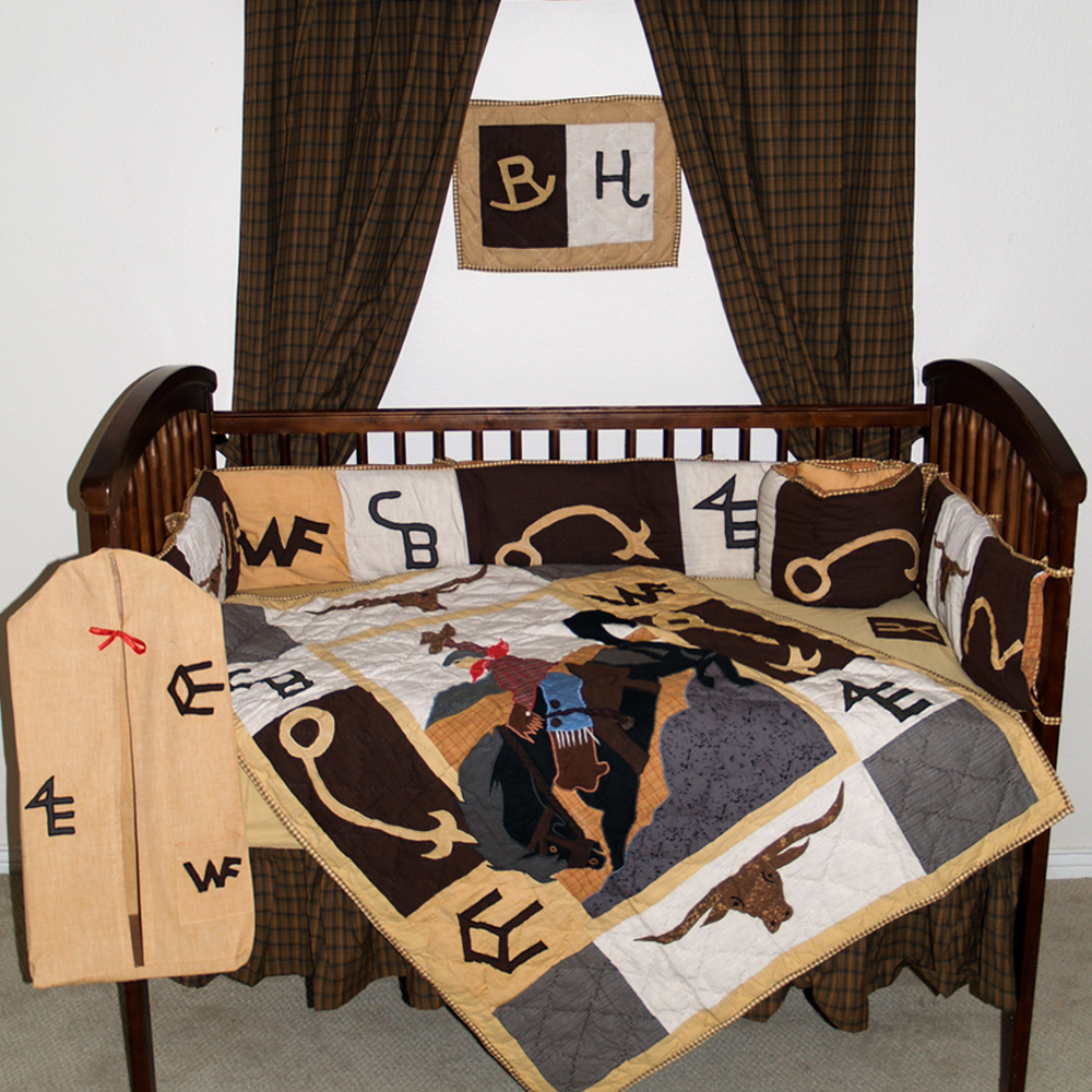 Brand Western Crib Set 6 Pieces