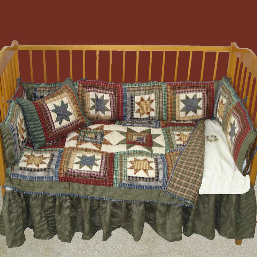 Cottage Star Crib Set 6 Pieces