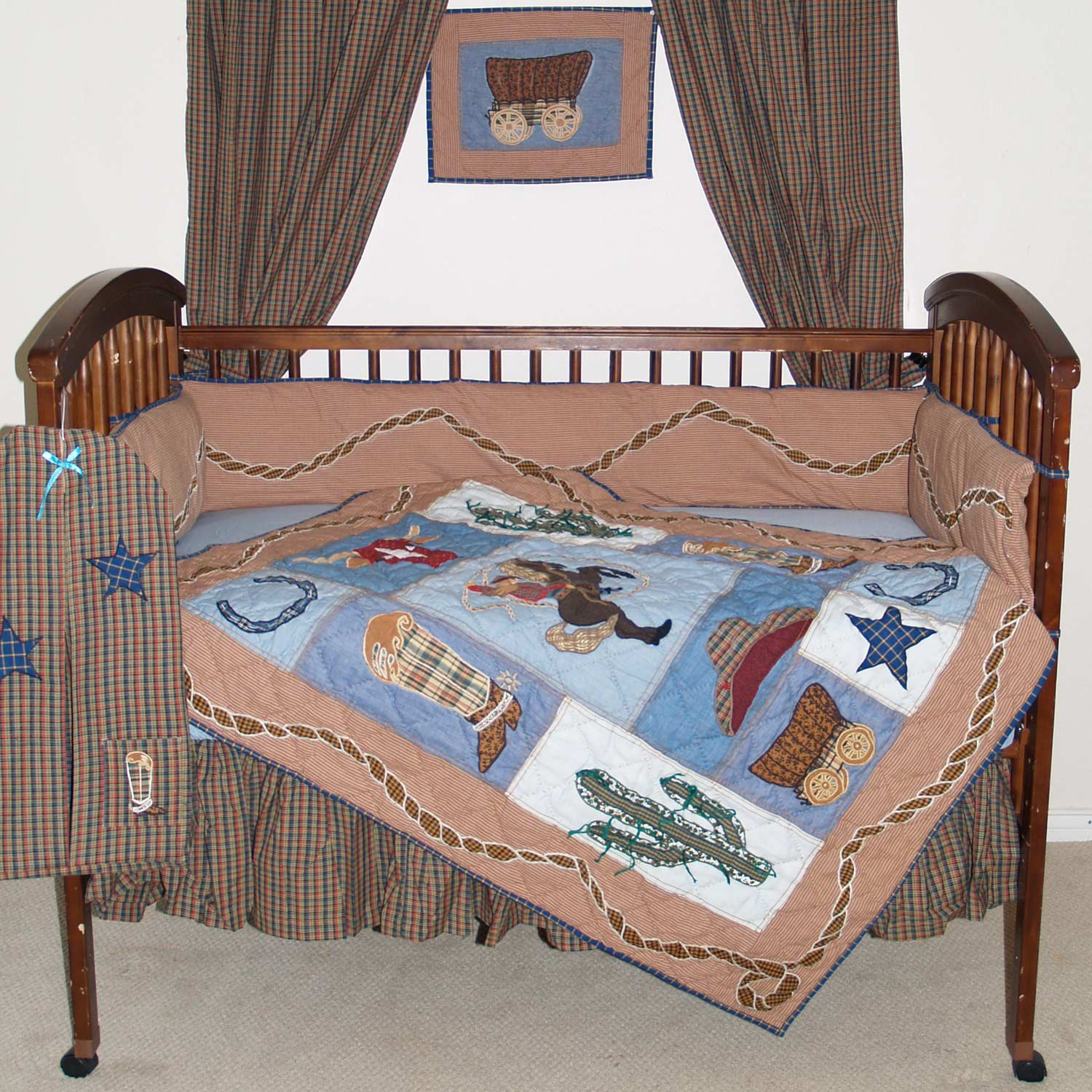 Cowboy Crib Set 6 Pieces