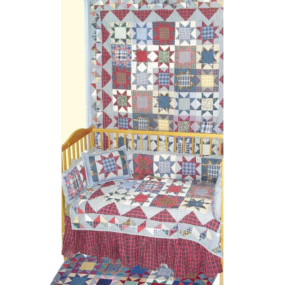 Denim Burst Crib Set 6 Pieces