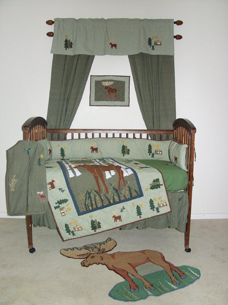 Moose Crib Set 6 Pieces