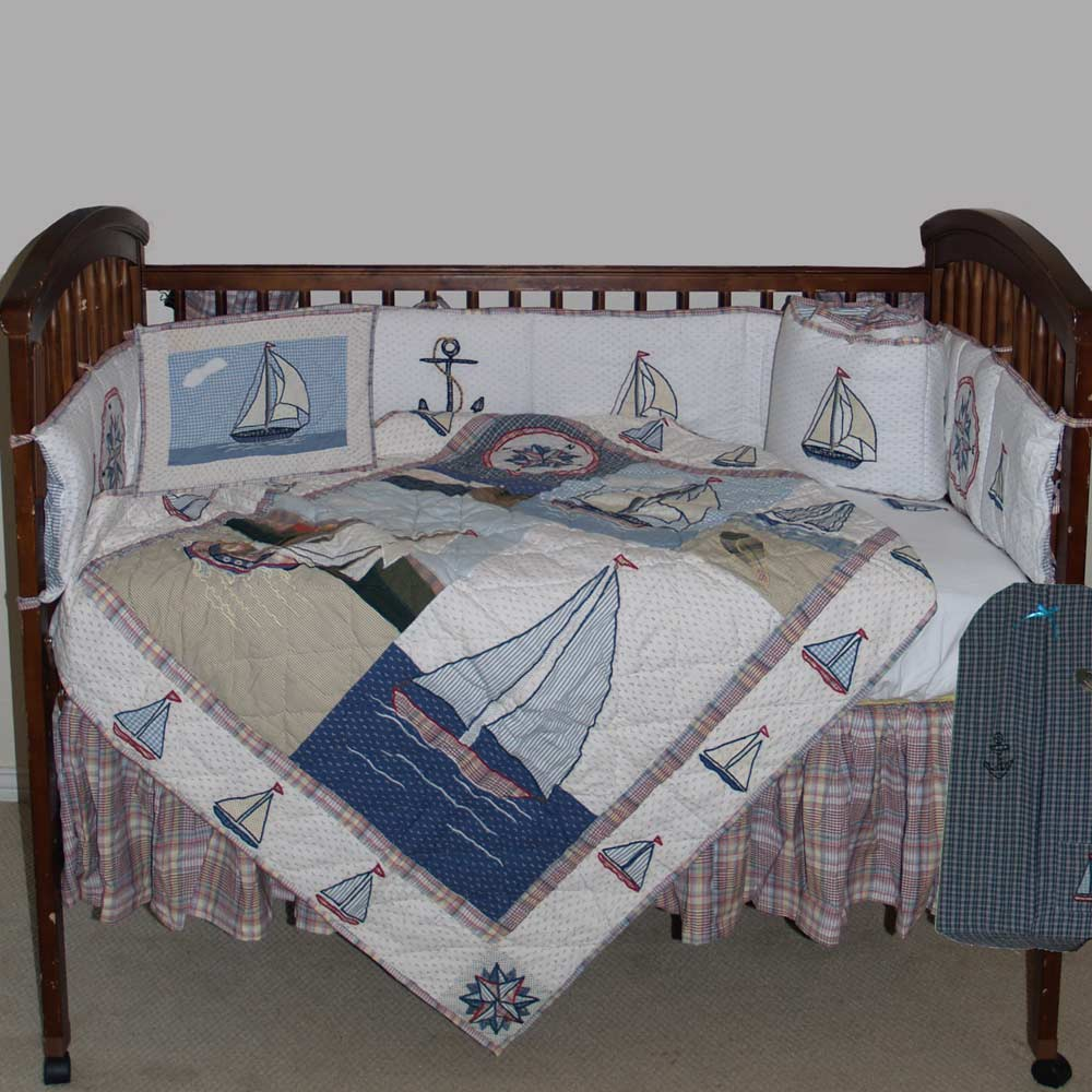 Nautical Drift Crib Set 6 Pieces