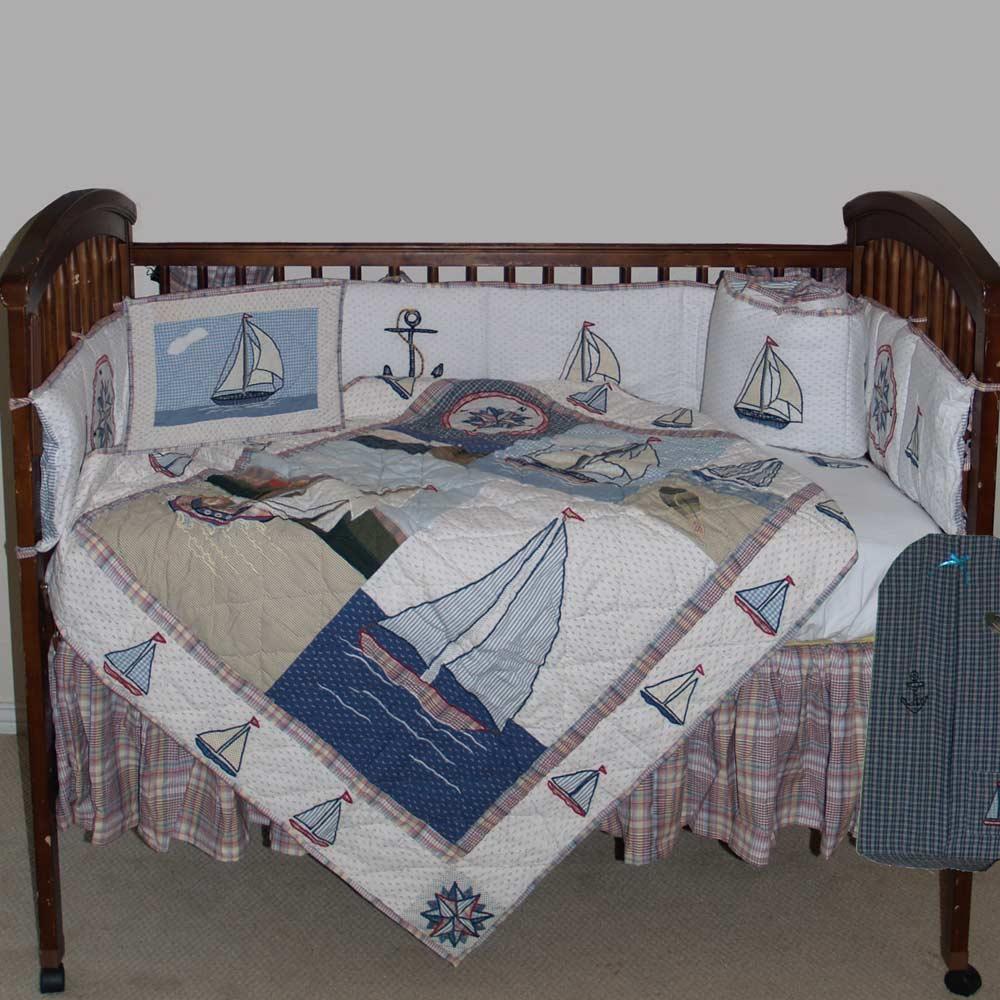 Nautical Drift Crib Set 6 Pieces