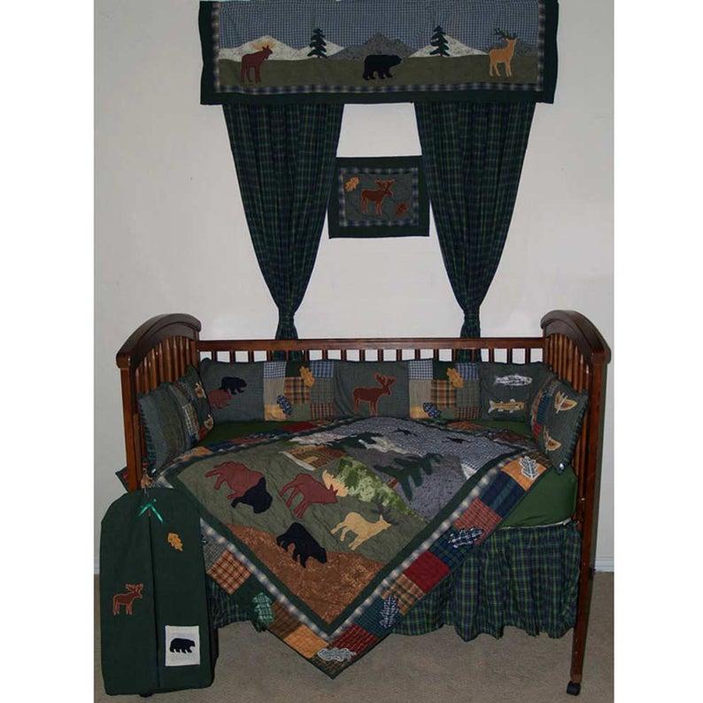Northwoods Walk Crib Set 6 Pieces