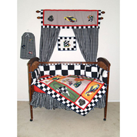 Racecar Crib Set 6 Pieces