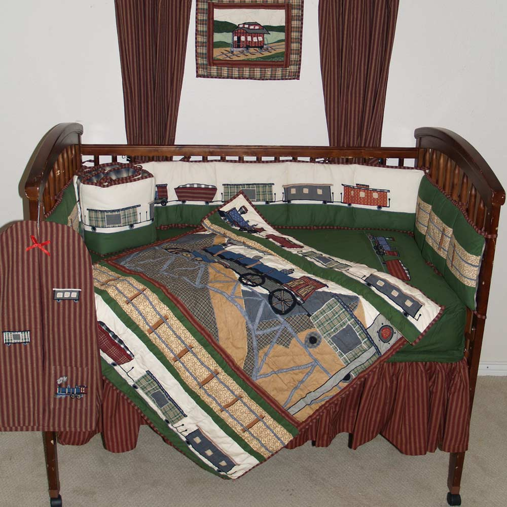 Train Crib Set 6 Pieces