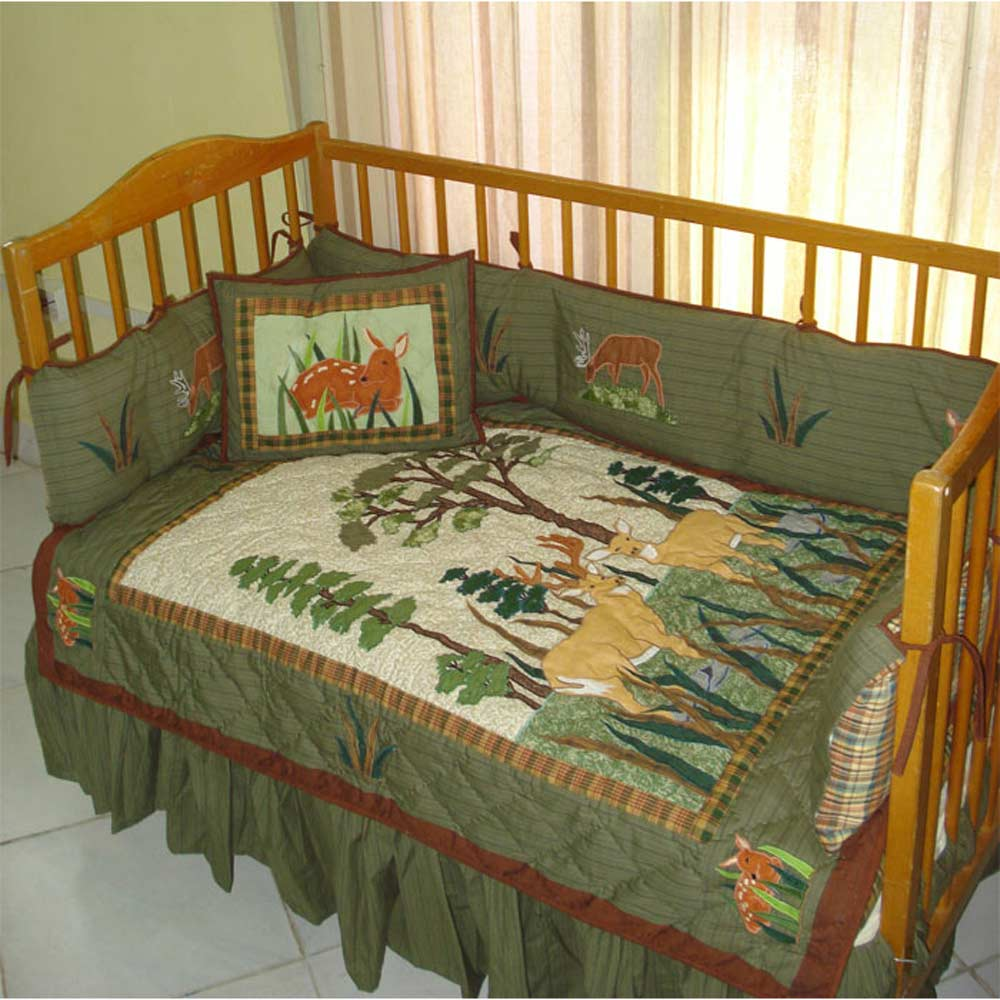 Whitetail Deer Grove Crib Set 6 Pieces