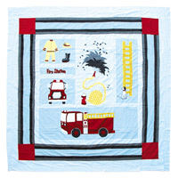 "Fire Truck Shower Curtain 72""W x 72""L"