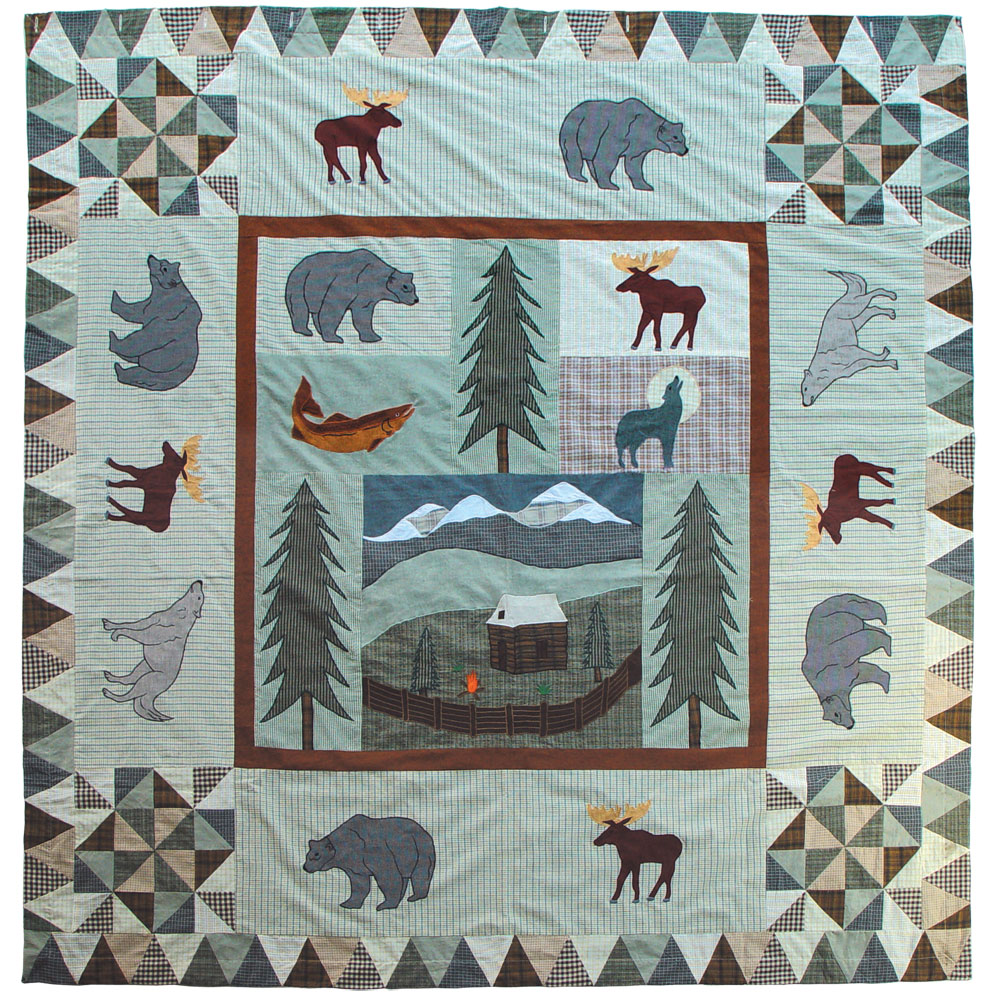 "Mountain Whispers Shower Curtain 72""W x 72""L"