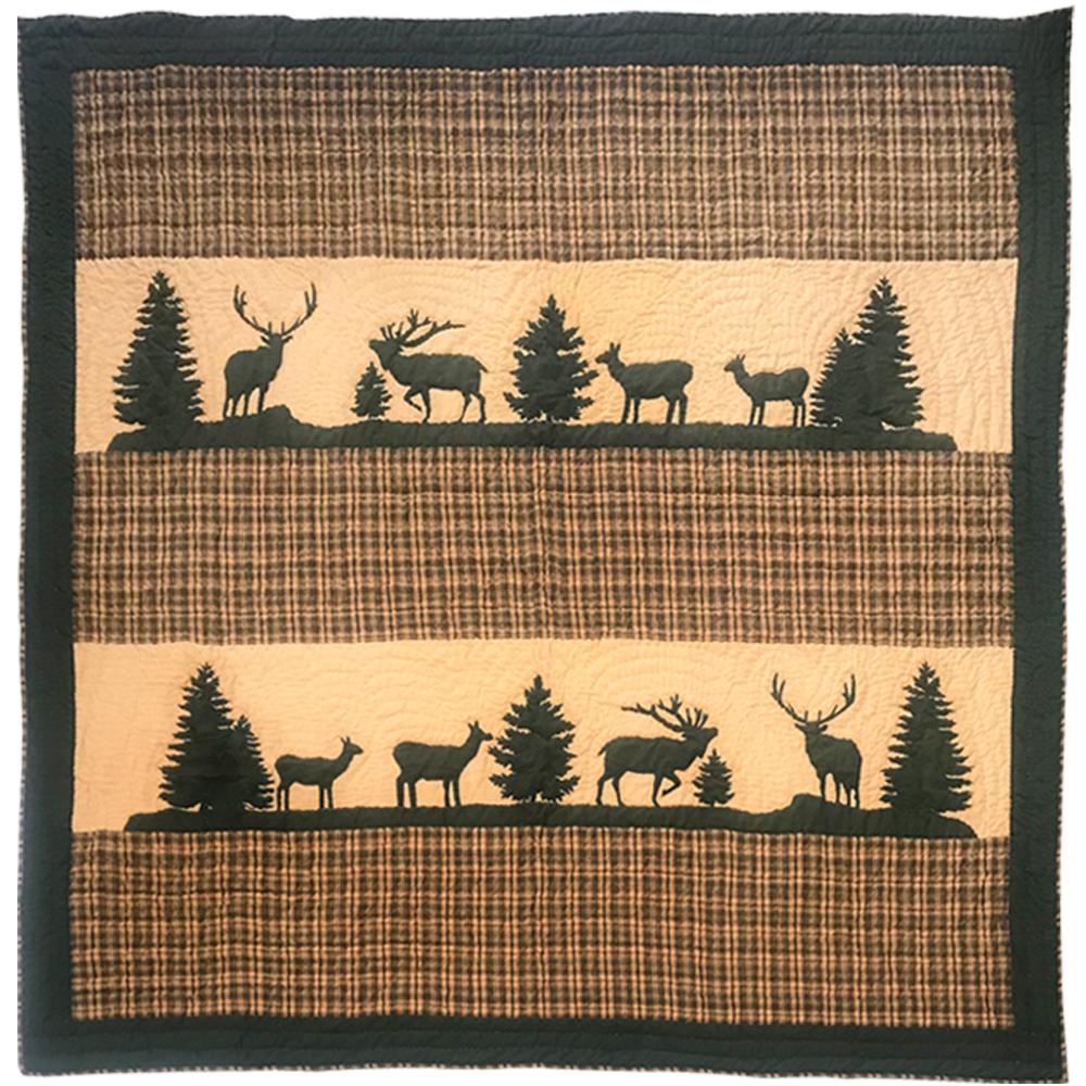 "Rocky Mountain Elk Shower Curtain 72""W x 72""L"