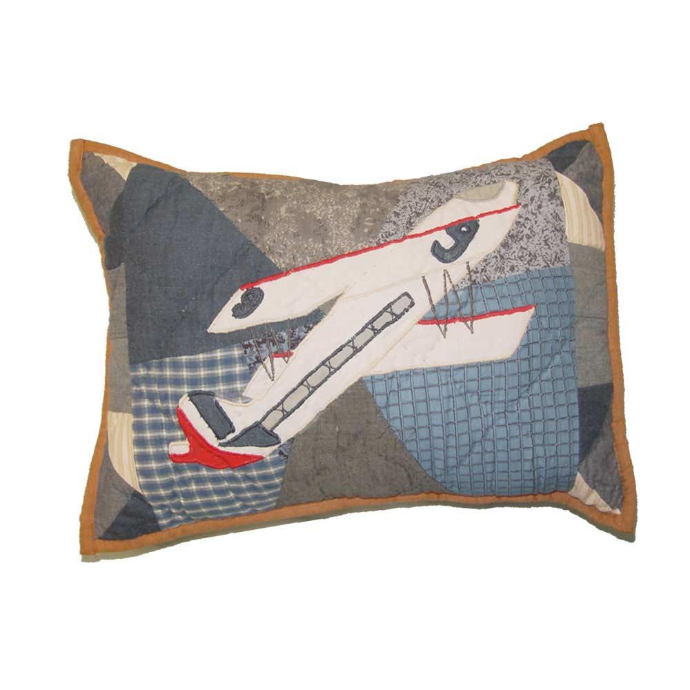 """Airplane Sortie Crib Pillow 12""""W x 16""""L"""