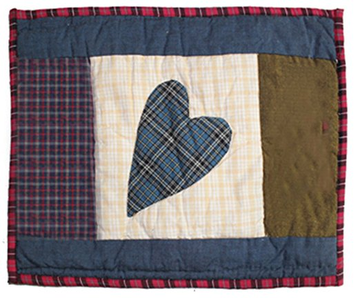 "Country Hearts Crib Pillow 12""W x 16""L"
