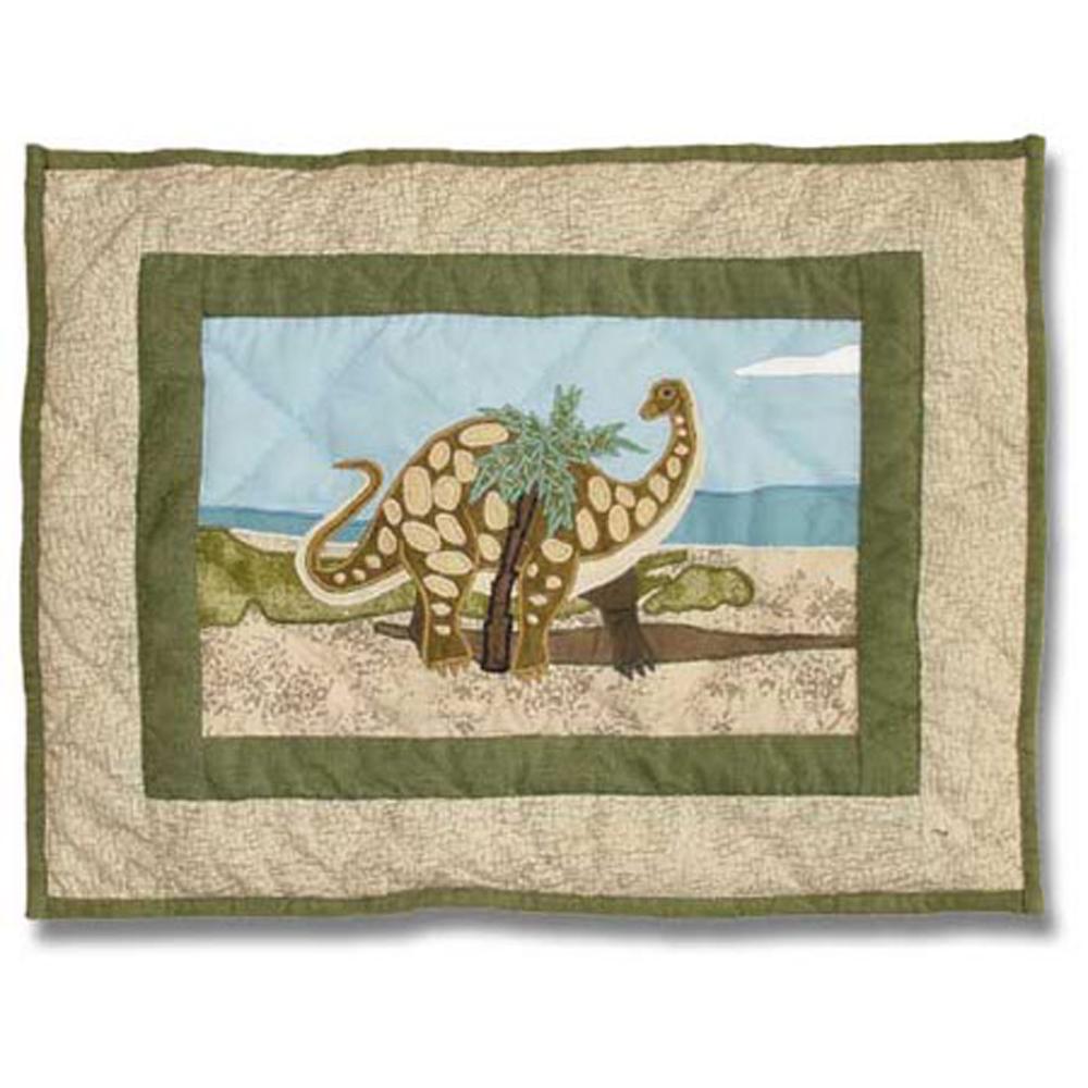 "Dinosaur crib toss pillow 12""W x 16""L"