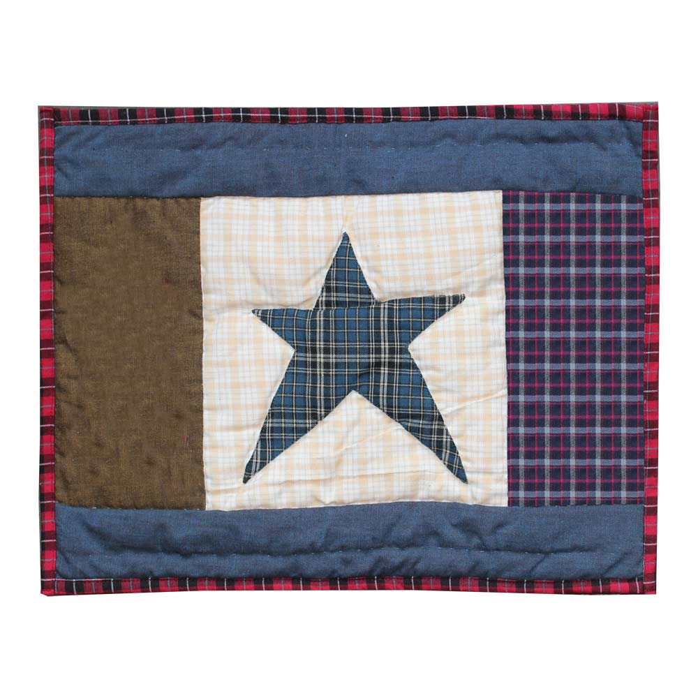 "Homespun Stars Crib Pillow 12""W x 16""L"