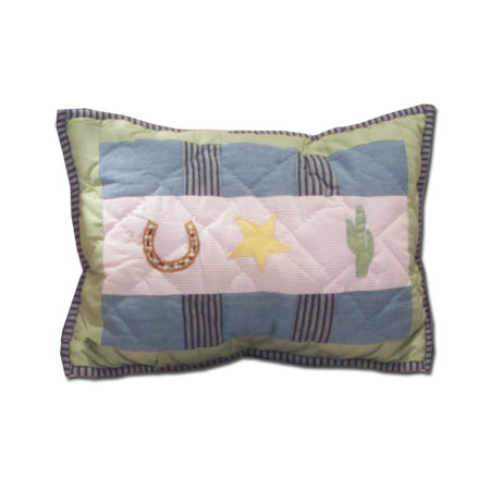 "Lil Yeeehaw,crib toss pillow 12""w x 16""l"