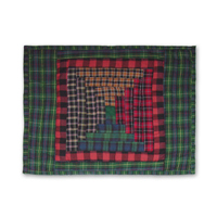"Tartan Log Cabin Crib Toss Pillow 12""w x 16""l"