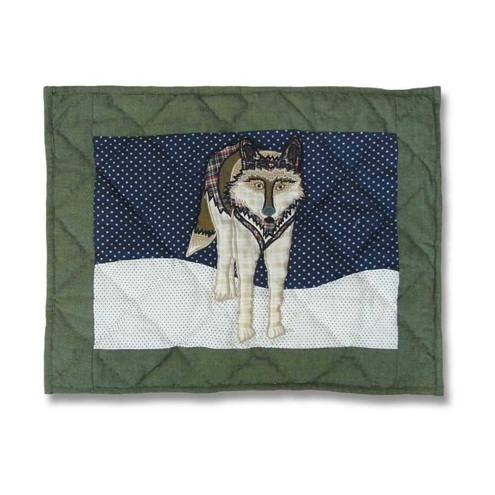 "Wolf Crib Pillow 12""W x 16""L"