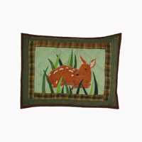 "Whitetail Deer Grove crib toss pillow 12""w x 16""l"