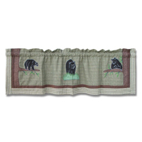 "Bear Country Curtain Valance 54""W x 16""L"