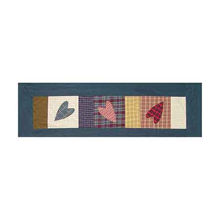 """Country Hearts valance 54""""w x 16""""l"""