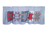 "Denim Burst Curtain Valance 54""W x 16""L"