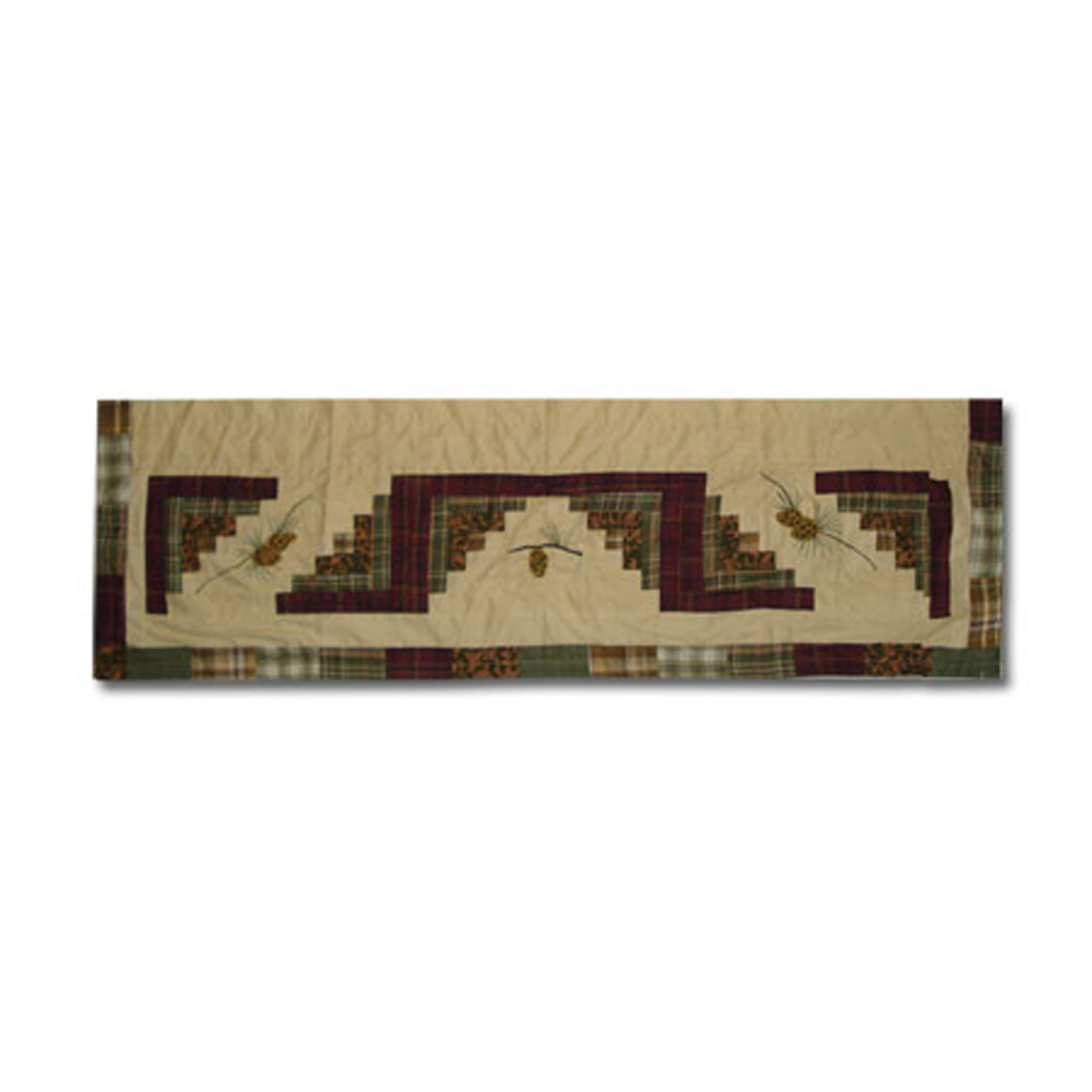 "Forest Log Cabin Curtain Valance 54""W x 16""L"