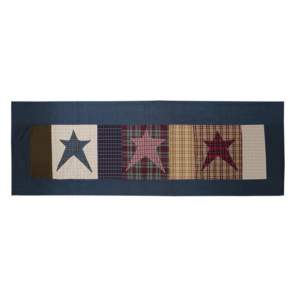 "Homespun Stars Curtain Valance 54""W x 16""L"