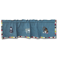 """Kitty Cats Curtain Valance 54""""W x 16""""L"""