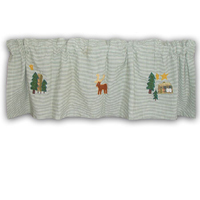 "Moose Curtain Valance 54""W x 16""L"