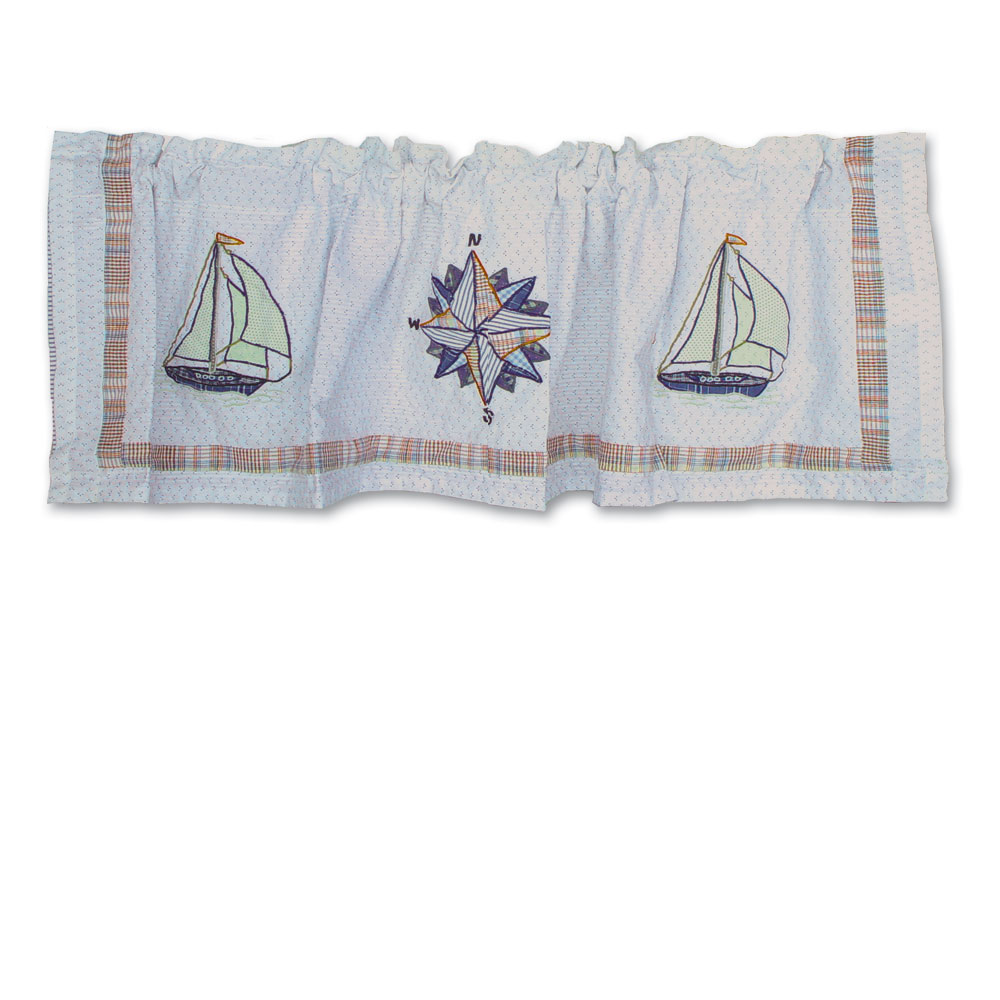 "Nautical Drift Curtain Valance 54""W x 16""L"