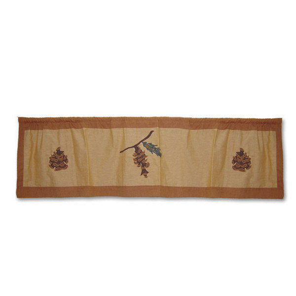 "Pinecone Curtain Valance 54""W x 16""L"