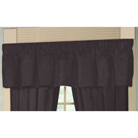 "Black Solid curtain valance 54""x 16"""